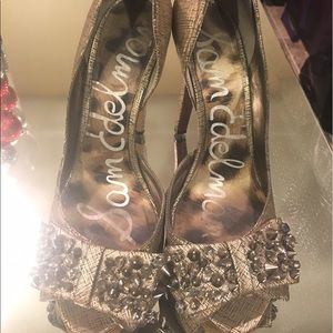 Sam Edelman Crystal Bow Heels