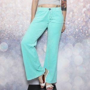 Juicy Couture Aqua Velour Jogger Pants