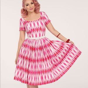 Pinup Girl Clothing Gena Harlequin dress.Brand new