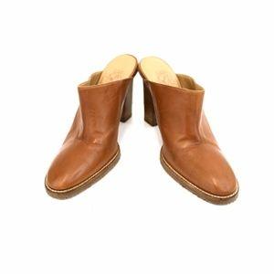 Circa Joan & David Mules Brown 8.5M Leather Heels