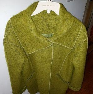 Chartreuse pea coat
