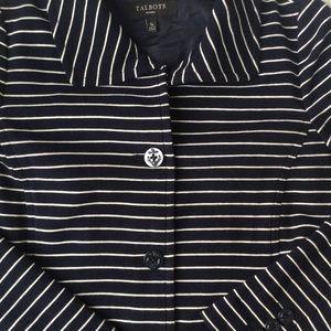 Talbots Nautical Striped Pea Coat 🐳⚓️🚢