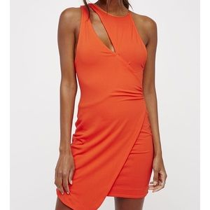 [Free People] Toast To That Orange Mini Dress