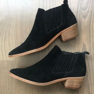 Dolce Vita black suede ankle boots