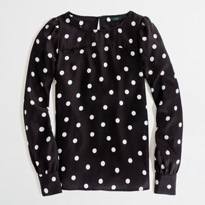 J. Crew Factory Printed Boatneck Blouse Size Small