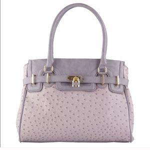 Lavender Ostrich Handbag