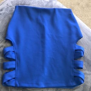 NWOT Nasty Gal Cut out Mini Skirt - Small