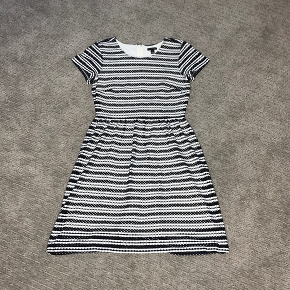 Ann Taylor Dresses & Skirts - Ann Taylor Black and White Eyelet Flare Dress