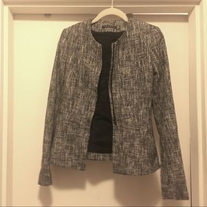 Theory gray tweed blazer