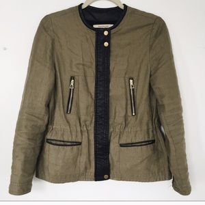 Zara green quilted jacket S/XS