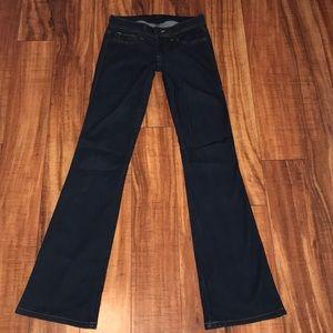 Bebe size 24 dark denim stretch jeans excellent