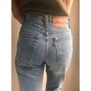 [vintage] Levis 550 high waist tapered leg jeans
