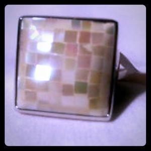 Park Lane Mother of Pearl Mosaic Ring