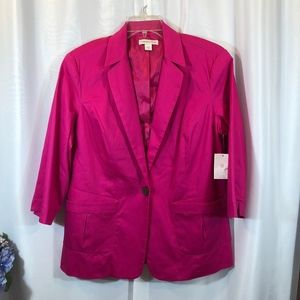 Coldwater Creek Pink One Button Jacket, Size 16