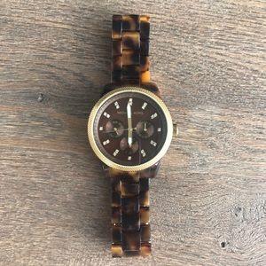 Michael Kors Tortoise Stainless Steel Quartz Watch