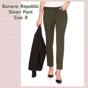 Banana Republic Sloan Ankle Pant, Olive Green, 0