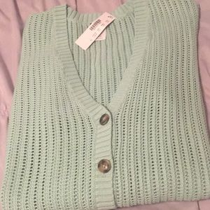 J. Crew Button up Cardi in Mint green Size Large