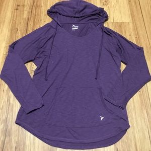 Old Navy Active Purple Lightweight Pullover Hoodie