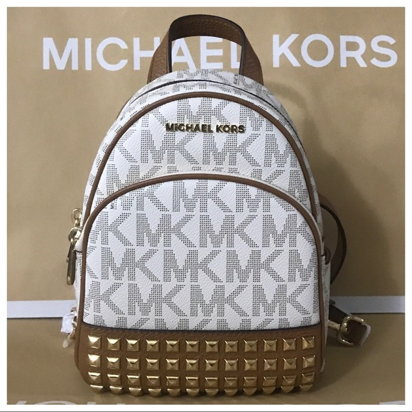 a284cc6fe63331 Michael Kors Bags   Nwt Mk Abbey Xs Studded Backpack Vanillaacorn ...