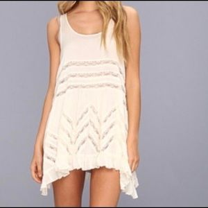 Free People Voile and Lace Trapeze Dress