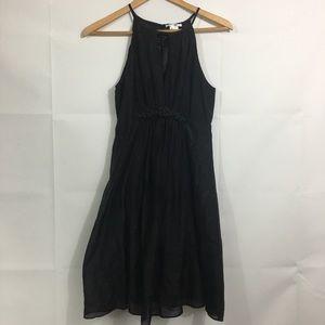 Esley black silk dress medium - LBD