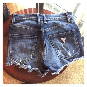 Vintage Distressed Guess Jean Shorts