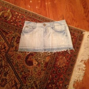 Aeropostale mini jeans skirt size 11/12