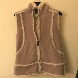 Uniqlo hooded fleece vest