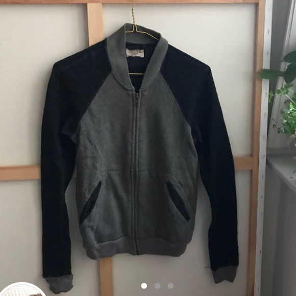 70124554f Wilfred Free knit varsity bomber jacket