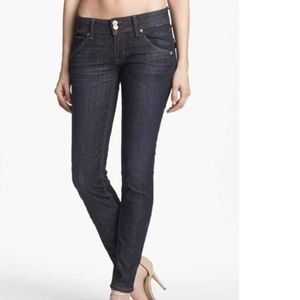 Hudson Collin Midrise Skinny Jeans Abbey Size 25