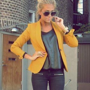 Premise mustard blazer size 8