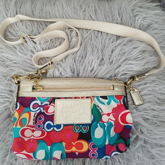 f0c57b43ed Coach Handbags - Coach poppy Multicolor Small Crossbody bag