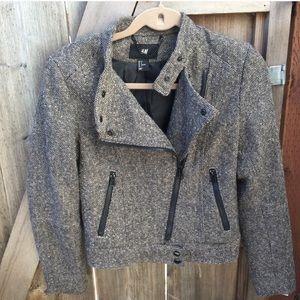 H&M Moto Tweed Jacket
