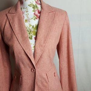 ANN TAYLOR LOFT Pink Wool and Silk Blend Blazer
