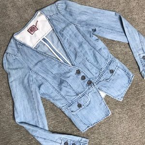 Juicy Couture Jackets & Coats - Juicy Couture Light Denim Blazer