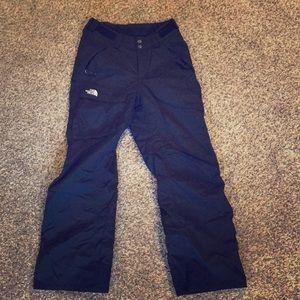 North face xs/s ski/snowboarding pants; black.