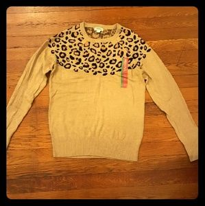 Merona leopard print sweater