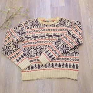 Vintage Made in Norway Wool Sweater Reindeer