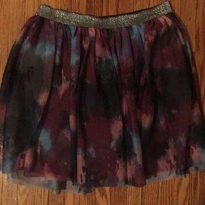 Girls skirt- multicolored lined skirt