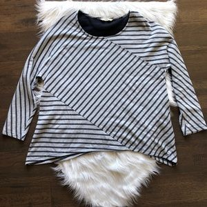 Soft Surroundings Asymmetrical Striped Tunic