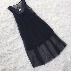 NWT Topshop Black Sheer Dress with Lining