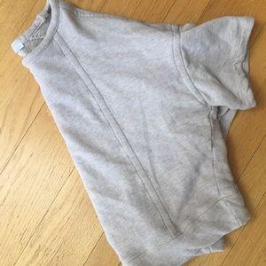 Zara cropped short sleeve sweatshirt