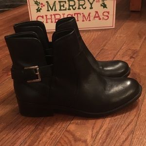 Crown Vintage Black Leather Ankle Boot