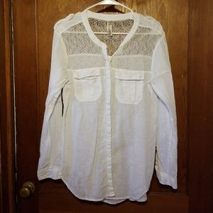 Free People Linen Shirt Size Medium