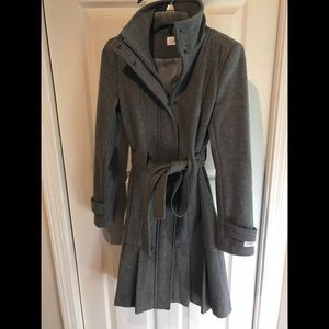 Calvin Klein Wool Pleated Jacket