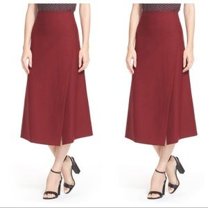 Theory Wool Blend Wrap Skirt