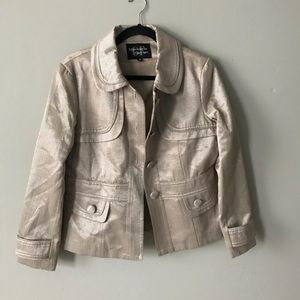 Giancarlo Ferrari Evening Tan Shimmer Jacket
