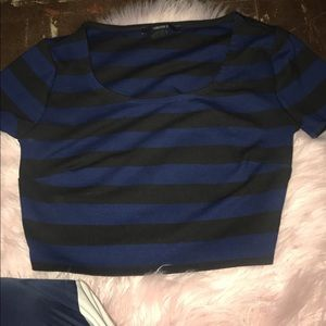 Striped forever 21 crop top