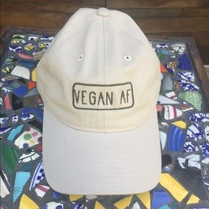 """Brand new Beige """"Vegan AF"""" dad hat"""