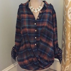 Anthropologie Isabella Sinclair Flannel Tunic
